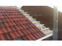 Roofer - Roof repairs and construction. Pitched Tiled, GRP Fibreglass & Garage roofs.