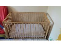 Ikea Gulliver cot bed (incl mattress and sheets)