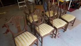 antique reproduction chairs for refurbish