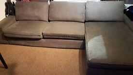 IKEA KIVIK 3 seater Sofa + Chaise lounge Tullinge Grey brown