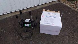 SHOWER PUMP - POWERFUL SALAMANDER TWIN HEAD PUMP RSP50 POSITIVE HEAD SHOWER PUMP 1.5BAR BOXED