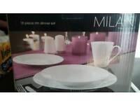 Milan white dining set