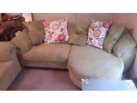 2x Sofas and footstool