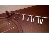 Ikea Steel wall rail with hooks