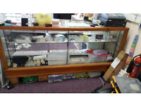 Glass Jewellery Counter 2 sliding doors with lock shelf and supports