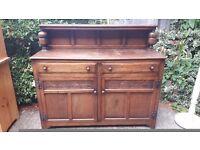 Sideboard - 2 doors/2 drawers - top shelf - solid oak