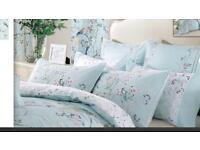 Dorma maiya duck egg blue bedding set