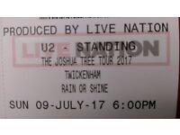 U2 Twickenham 9th July £100 ONO General Admission Standing