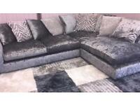 DFS grey/silver Lyric Right Hand facing chaise corner sofa