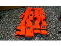 Lifejackets - 4 Compass 60 -90kg foam lifejackets for sale.