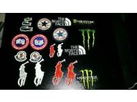 Iron on badges 1 pound each free post