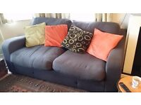3 seater sofa, charcoal, comfortable