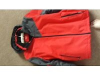 Mens ski jacket and trousers, gloves,goggles and socks