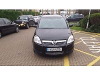 Vauxhall Zafira 1.8 Exclusiv 5dr,(Reg 2011),PCO 7 Month,MOT 7 Month,low mileage 35500,£4600
