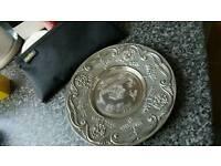 Xmas silver plate