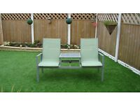 GARDEN CHAIRS WITH TABLE (JACK & JILL TYPE)