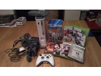 Xbox 360 with 1 controller, games and a hard drive