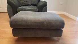 Grey footstool good condition
