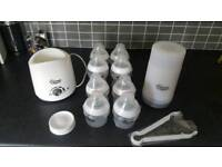 Tommee tippee bottles and bottle warmer