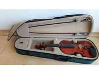 BARGAIN! ANTONI Student violin + sturdy case, cover & bow £40 all in (+optional free music books)