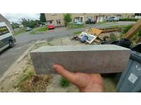 Free free timber, paint curb stones.