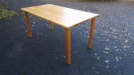 Solid Pine Dining Table (150cm) FREE DELIVERY 205