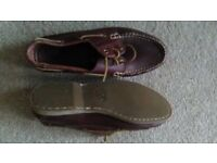 Brown leather Deck shoes QUAYSIDE brand
