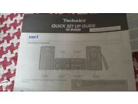 ***TECHNICS SC-EH500 SEPARATES STEREO SYSTEM AND SB-EH600 SPEAKERS. £120 ono***