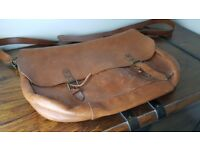 M&S Leather Messenger Bag