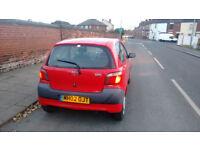 Toyota Yaris 2002, cheap insurance, ideal first time driver, 12 months MOT