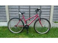 Ladies pink mountain bike