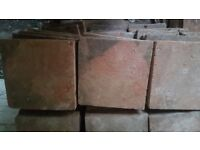 Reclaimed 6x6 Inch Buff / Orange / Red Clay Quarry Tiles