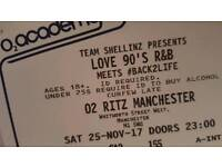 1x Ticket for LOVE 90s R&B @02 Ritz