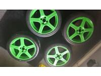 "17"" wheels with good tyre tread"