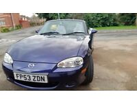 Mx5 convertible 12months mot service history central lock manual roof cd economical no rust