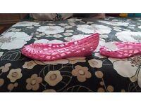 Pink juju jelly shoes size 8