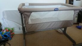 Chico next2me bedside cot crib