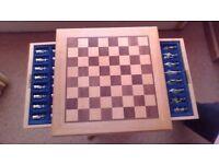 oak chess table