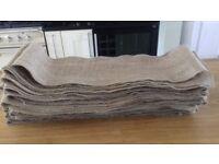 Hessian chair sashes x 30