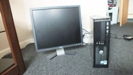 Dell Optiplex 735 Desktop with Dell monitor