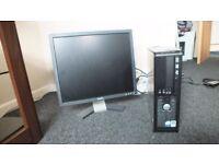 Dell Optiplex 735 Desktop with Dell monitor