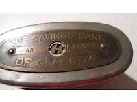 The Savings Bank of Glasgow Metal Moneybox
