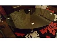 Black oval coffee table