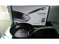 Boxed BNWT Le Creuset toughened non stick 24cm deep frying pan RRP £105