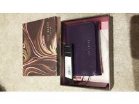 Ted Baker purple patent purse