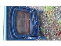 Cast iron (painted blue) multifuel stove vintage antique