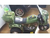 Battery operated army motorbike with charger