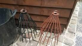2 Chimney pot bird gards