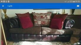 2 x 3 seater sofas couches