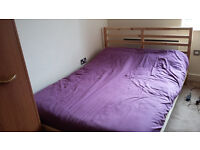 Ikea double bed (frame and mattress) european size, good conditions (as new).